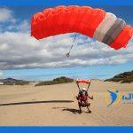 ¿Cuáles son las partes de un paracaídas?